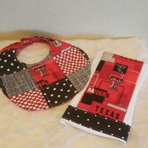 Texas Tech Red Raiders Burp Cloth & Bib Set